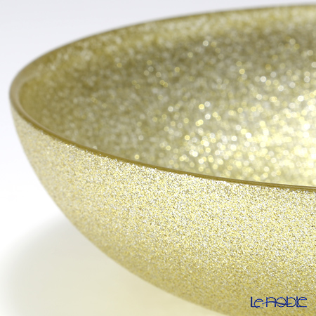 Vetro Felice 'Glitter' New Gold Low Bowl 18cm (set of 6)