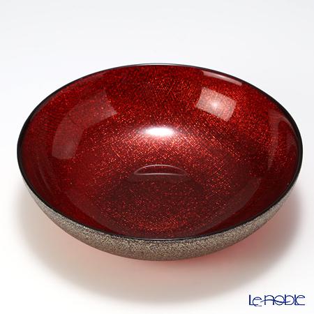 Vetro Felice 'Glitter' Red Low Bowl 18cm (set of 6)