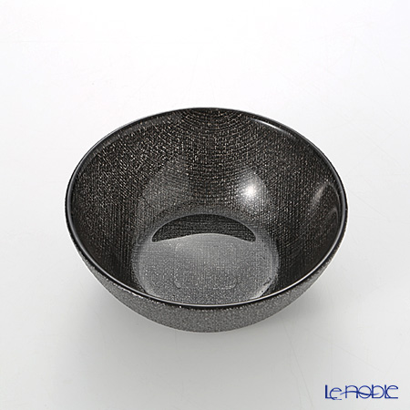 Vetro Felice 'Glitter' Dark Grey Flat Bowl 13cm (set of 6)