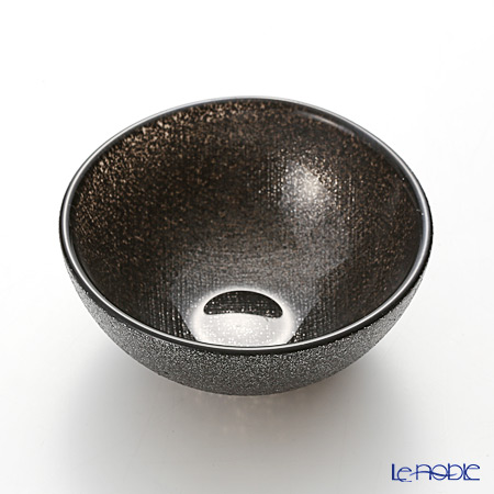 Vetro Felice 'Glitter' Dark Grey Bowl 9cm (set of 6)