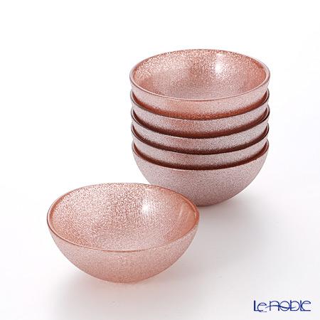 Vetro Felice 'Glitter' Rose Gold Bowl 9cm (set of 6)