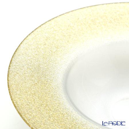 Vetro Felice 'Glitter' New Gold Rim Bowl 26cm (set of 2)