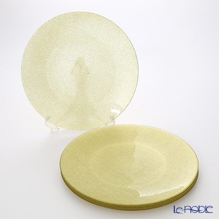Vetro Felice 'Glitter' New Gold Plate 35cm (set of 4)