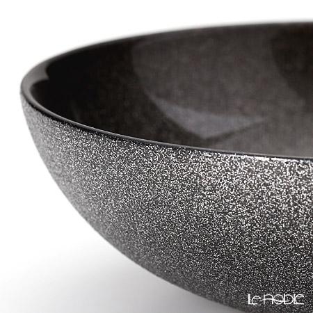 Vetro Felice 'Glitter' Dark Grey Low Bowl 18cm (set of 4)