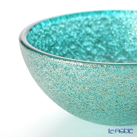 Vetro Felice 'Glitter' Aqua Bowl 9cm (set of 4)
