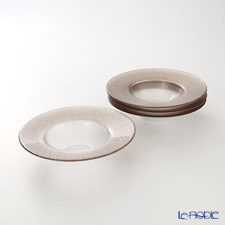 Vetro Felice 'Glitter' Ginger Rim Bowl 19.5cm (set of 4)