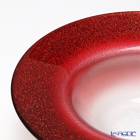 Vetro Felice 'Glitter' Red Wide Rim Bowl 19.5cm (set of 4)