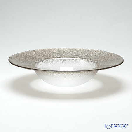 Vetro Felice 'Glitter' Ginger Rim Bowl 26cm (set of 4)