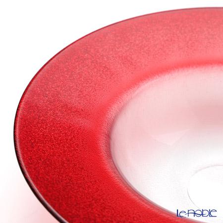 Vetro Felice 'Glitter' Red Wide Rim Bowl 26cm (set of 4)