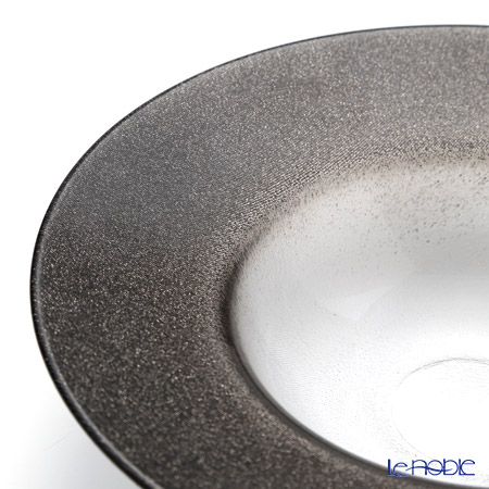 Vetro Felice 'Glitter' Dark Grey Rim Bowl 26cm (set of 4)