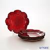 Vetro Felice glitter 515916 Flower plates 16 cm red G003 4/16 set of 4