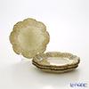 Vetro Felice glitter 515916 Flower plates 16 cm new gold G022 4/16 set of 4