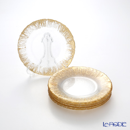 Vetro Felice 'Flash' Gold Plate 21.5cm (set of 6)