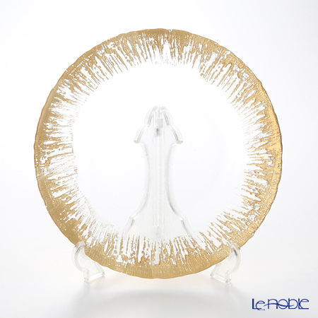 Vetro Felice 'Flash' Gold Plate 28cm (set of 6)