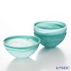 Vetro Felice Alabaster 68513 Bowl 13 cm matte Aqua 4/16 set of 4