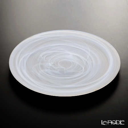 Vetro Felice 'Alabaster' Matte White Plate 28cm (set of 4)