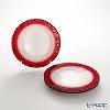 Vetro Felice Flash 349121 Pearl White plates 21.5 cm (4/16) x red 4 piece set