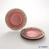 Vetro Felice Flash 349121 Antique rose plates 21.5 cm (4/16) x champagne gold set of 4