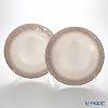 Vetro Felice Flash 349128 Plate 28 cm (2/12) White Pearl x ginger pair