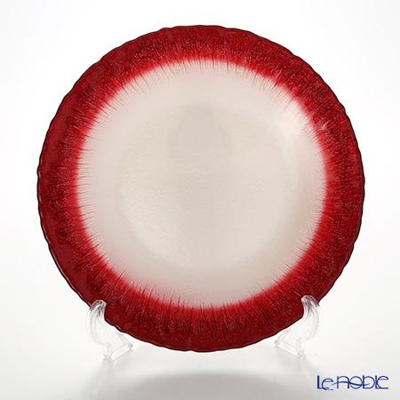 Vetro Felice 'Flash' White Pearl x Red Plate 28cm (set of 2)