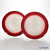 Vetro Felice Flash 349128 Plate 28 cm (2/12) White Pearl / red pair