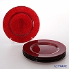 Vetro Felice glitter 323933C Charger plate 33 cm red G003 1/6 6 pieces