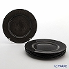 Vetro Felice glitter 323933C Charger plate 33 cm dark grey G019 1/6 6 pieces