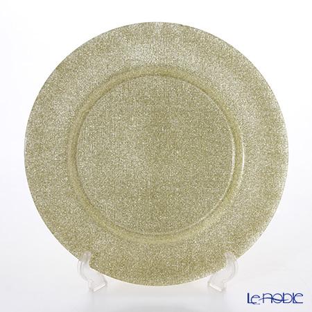 Vetro Felice 'Glitter' New Gold Full Charger Plate 33cm (set of 6)