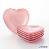 Vetro Felice heart 59214 Plate 14 cm Peony pink (6/24) 6 pieces
