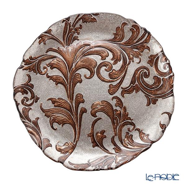 Vetro Felice 'Acanthus' Brown Plate 27.5cm (set of 4)