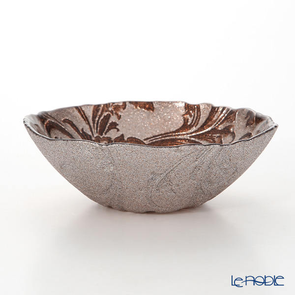 Vetro Felice 'Acanthus' Brown Bowl 17cm
