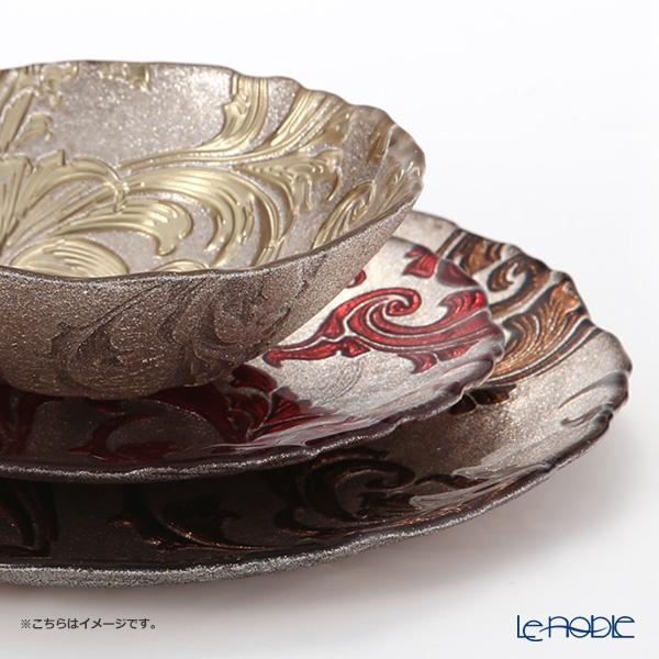 Vetro Felice 'Acanthus' Brown Bowl 17cm