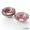 Vetro Felice 'Acanthus' Red Bowl 17cm (set of 4)