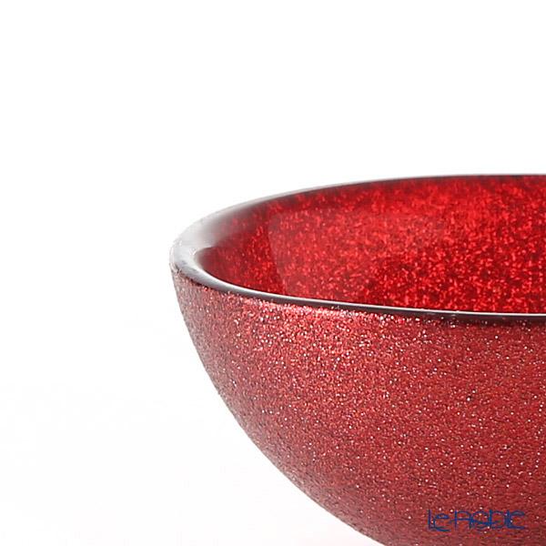 Vetro Felice 'Glitter' Red Low Bowl 14cm (set of 2)