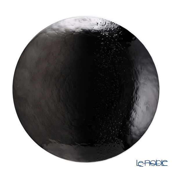 Vetro Felice 'Horizon' Black Plate 28cm (set of 6)