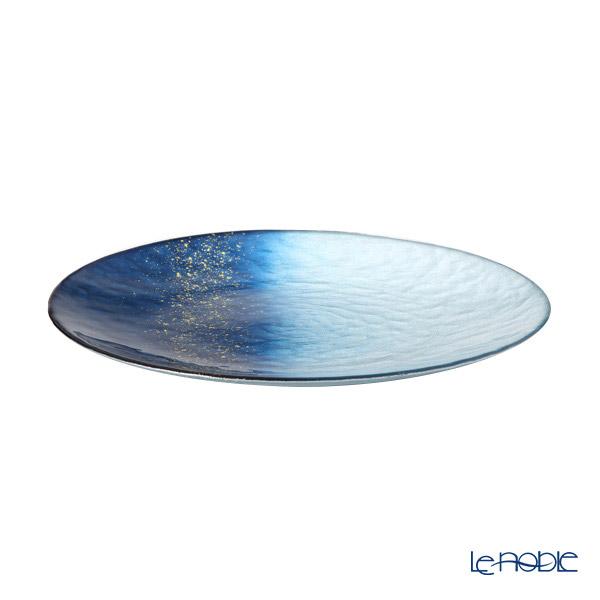 Vetro Felice 'Horizon' Blue Plate 28cm (set of 6)