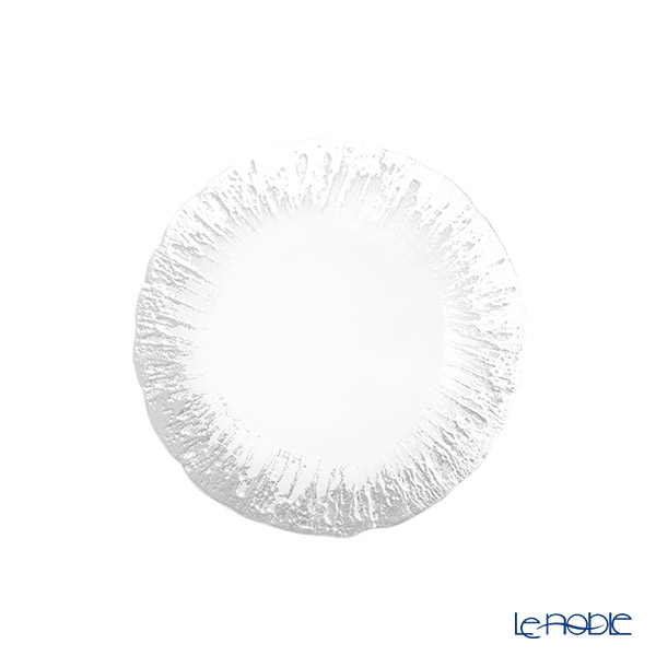 Vetro Felice 'Flash' Clear & Silver Plate 15cm (set of 4)
