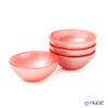 Vetro Felice 'Glitter' Vintage Rose Pink Bowl 9cm (set of 4)