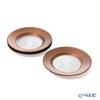Vetro Felice 'Circle' Brown Plate 21cm (set of 4)