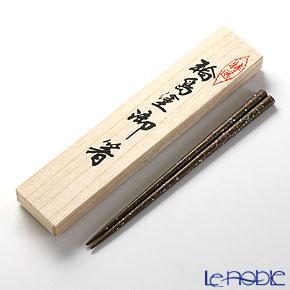 Wajima Lacquerware 'Shichi-sai' Green Chopsticks 22.5cm (with wooden box / Paulownia)