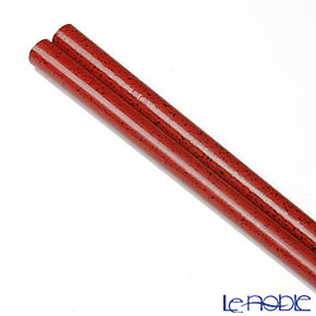 Wajima Lacquerware 'Ishime-nuri' Scarlet Red Chopsticks 23cm (with wooden box / Paulownia)