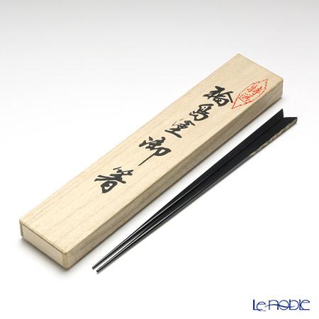 【伝統工芸】輪島塗 御箸 松 沈金 黒 23cm 【桐箱付】
