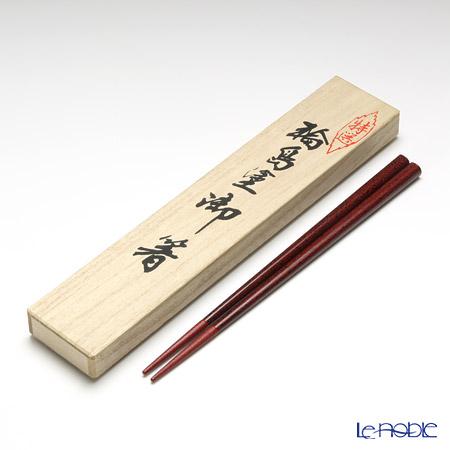 【伝統工芸】輪島塗 御箸 波しぶき 赤 22cm 【桐箱付】
