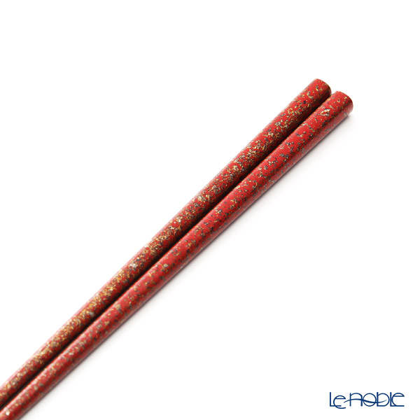 Wajima Lacquerware 'Togidashi Nashi-ji' Red Chopsticks 24cm (with wooden box / Paulownia)