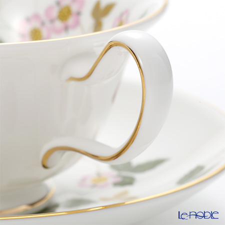Wedgwood 'Wild Strawberry' Peony Tea Cup & Saucer, Plate (set of 2 for 1 person)