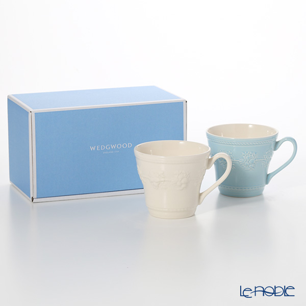 Wedgwood 'Earthenware - Festivity' Blue & Ivory Mug 350ml (set of 2 colors)