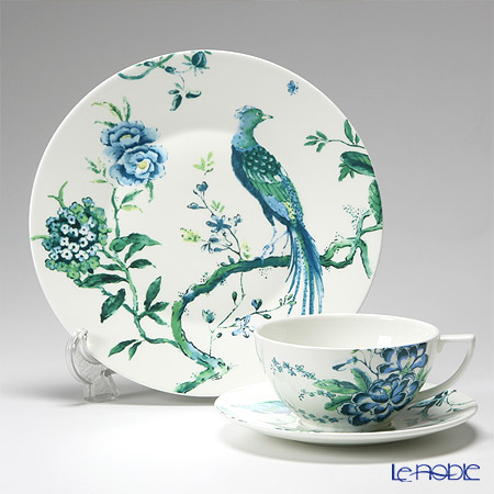 Wedgwood 'Jasper Conran Chinoiserie' White Tea Cup & Saucer, Plate (set of 2 for 1 person)
