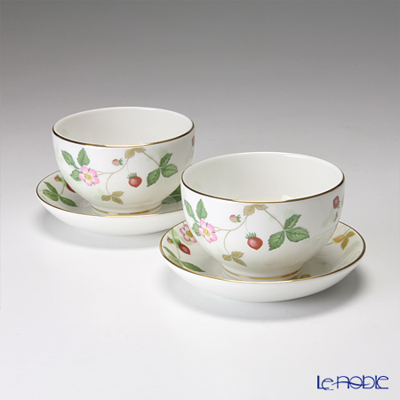 Wedgwood 'Wild Strawberry' Japanese Tea Cup & Saucer 170ml (set of 2)