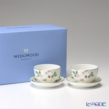 Wedgwood Wild Strawberry Japanese Tea Cup & Saucer (set of 2pcs with brand box)