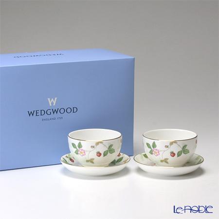 ウェッジウッド(Wedgwood) ワイルドストロベリー ジャパニーズティーカップ&ソーサー ペア 【ブランドボックス付】